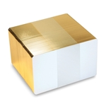 Bild von Blank white cards with gold egde - CR80