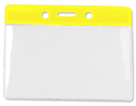 Bild von Card holder/carrying case soft plastic 86 x 54 mm. yellow top/clear (horizontal/landscape)