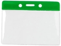 Bild von Card holder/carrying case soft plastic 86 x 54 mm. green top/clear (horizontal/landscape)