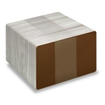 Bild von Blank brown cards - CR80 (WHITE CORE) 0.76 mm/760 micron, 85.60 × 53.98 mm (standard credit card size)